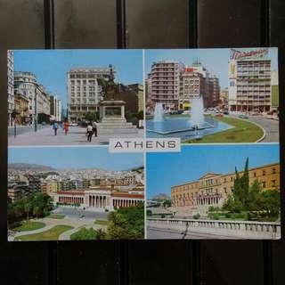 [lapyip1230] 希臘王國 1970年 雅典風光 彩色明信片