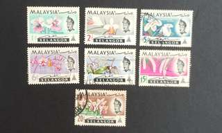 Malaysia Selangor stamps Orchids