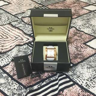 TW STEEL Ce3016 Goliath Rose Gold Mother Pearl Dial Square Women Watch