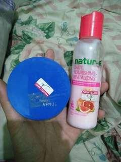 Paket murah bedak venus n natur e body lotion