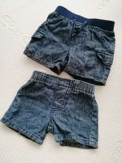 Baby Shorts  soft Jeans