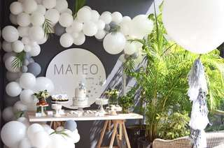 Organic Balloon Arch + Dessert Table styling and decoration