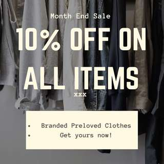 10% OFF ALL ITEMS