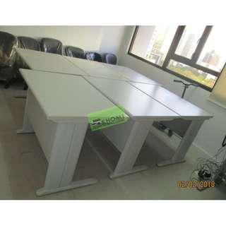 OFFICE TABLE 01 100X70cm LIGHT GRAY TOP & LEGS--KHOMI