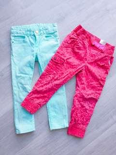 2️⃣pcs H&M Girl Pants