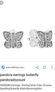 Pandora Butterfly Earrings