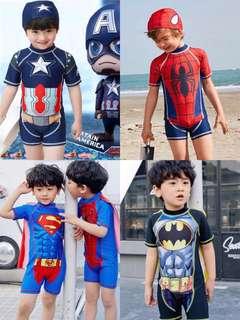 韓版美國隊長Iron Man Superman 超人 Batman 蝙蝠俠男童小童泳衣