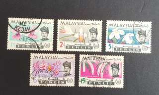 Malaysia Perlis stamps Orchids