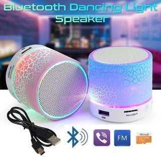 Wireless Bluetooth Speaker with LED Dancing Light