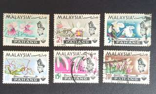 Malaysia Pahang stamps Orchids