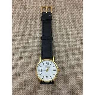 英倫復古錶黑色錶帶金錶 Golden Vintage Watch