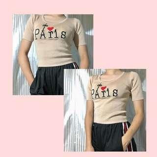 Paris Crop top