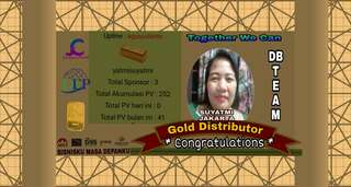 Selamat Atas Pencapaiannya Sebagai Gold Distributor