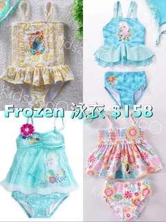 韓版Elsa Anna Frozen 艾莎安娜冰雪奇緣女童泳衣swimsuit swimwear