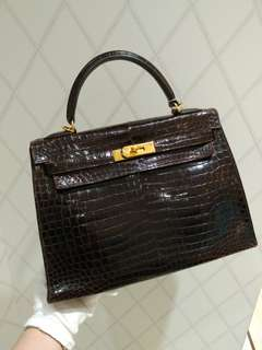Hermes kelly 32 crocodile
