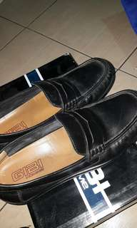 GIBI Black Leather Shoes
