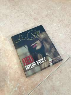 Taylor swift autographed red album