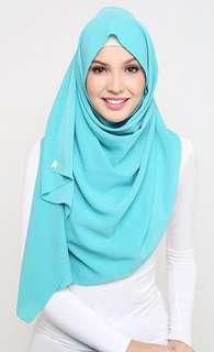 Duck Scarves - Mixed Crepe Blue Ice