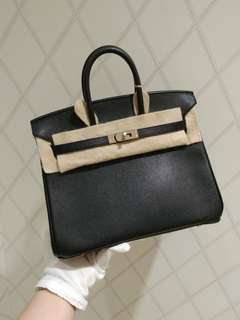 Hermes birkin 25 in black epson