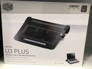Cooler Master U3 Plus Movable Fan Aluminium Cooling Pad laptop cooler 19""