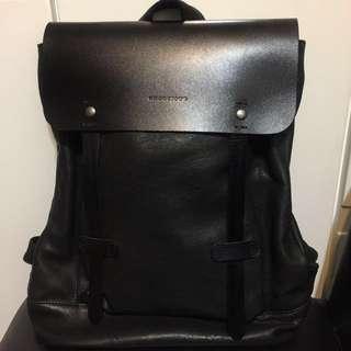 Amdacious Leather Backpack | Black