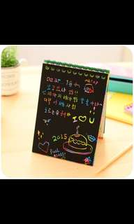 Rainbow scratch pad/colourful notebook