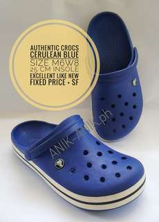 Authentic Crocs Preloved Like New - Cerulean Blue