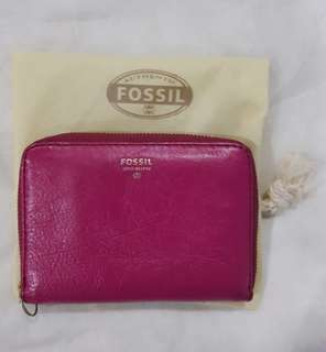 Preloved #fossil (AUTHENTIC) - Flap Zipper Wallet
