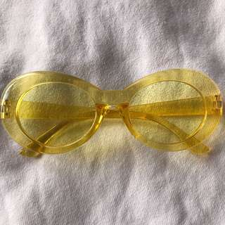 CLOUT GOGGLES GLITTER YELLOW