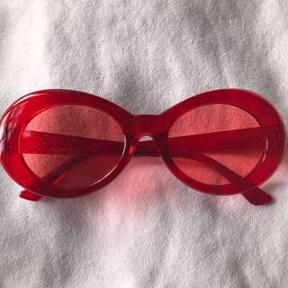 CLOUT GOGGLES GLITTER RED