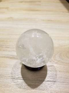 White Crystal Ball w/ Stand