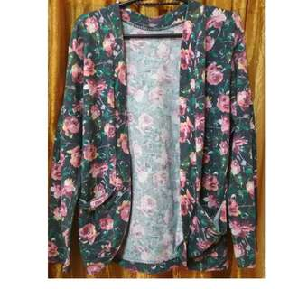 floral print cardigan with pockets