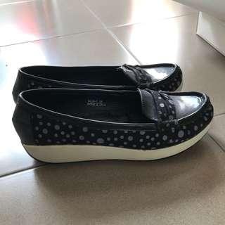 Flatshoes Platform Hitam (sepatu hitam)