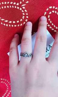 Authentic Pandora Princess Tiara Ring 1pc