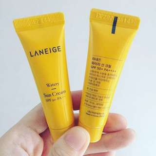 Mini Laneige Watery Sun Cream Spf 50+ Pa+++ 10m