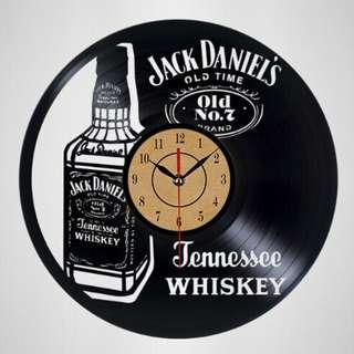 Jack Daniel Vinyl Clock