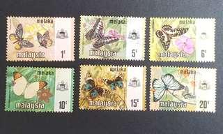 Malaysia Malacca Melaka stamps Butterflies