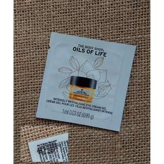 FREE The Body Shop oil of life eye gel sample pack