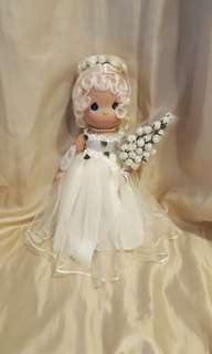 Precious moments vintage wedding doll character bride with SamB signature