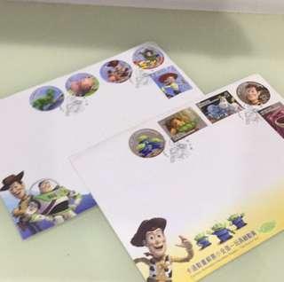🚚 Tiffany衣櫃 玩具總動員 郵局首日封 郵票 信封