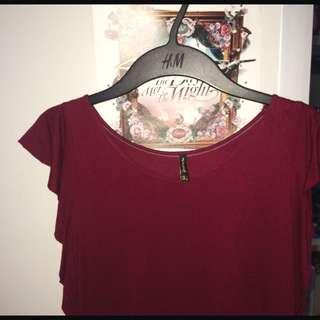 Stradivarius Layered Red T-shirt