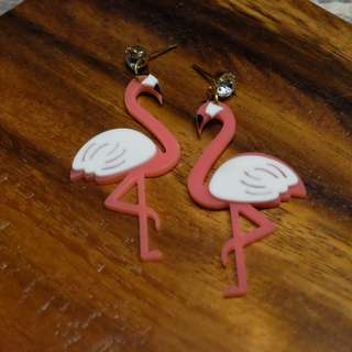 Flam Earrings (Pink-White)