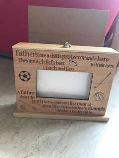 Photo album display box for Father's Day