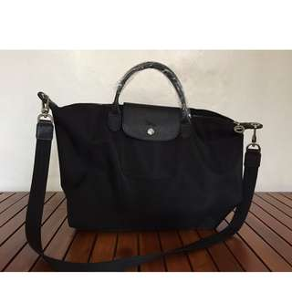 Longchamp Black Top Handle Bag (Medium)