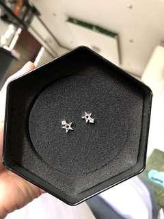 Aurora Star Silver earrings