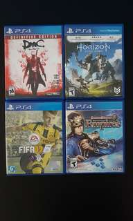 Used PS4 Games.