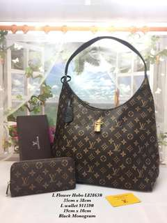 2 in 1 Louis Vuitton LV Hobo with Purse Wallet (FREE POSTAGE)