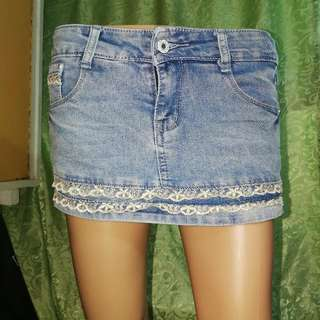 Denim Skort / Palda Short 27-28