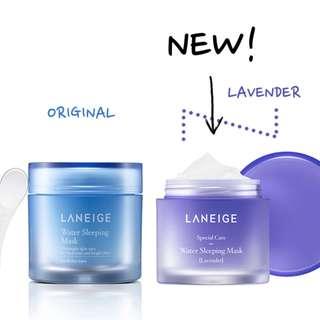 LANEIGE Water sleeping mask only (original/ lavender)