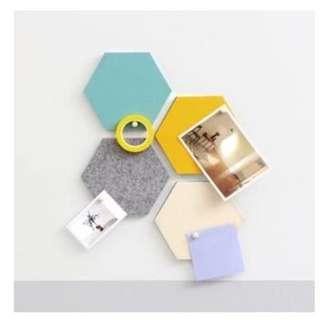 Mini Hexagon Cork Boards